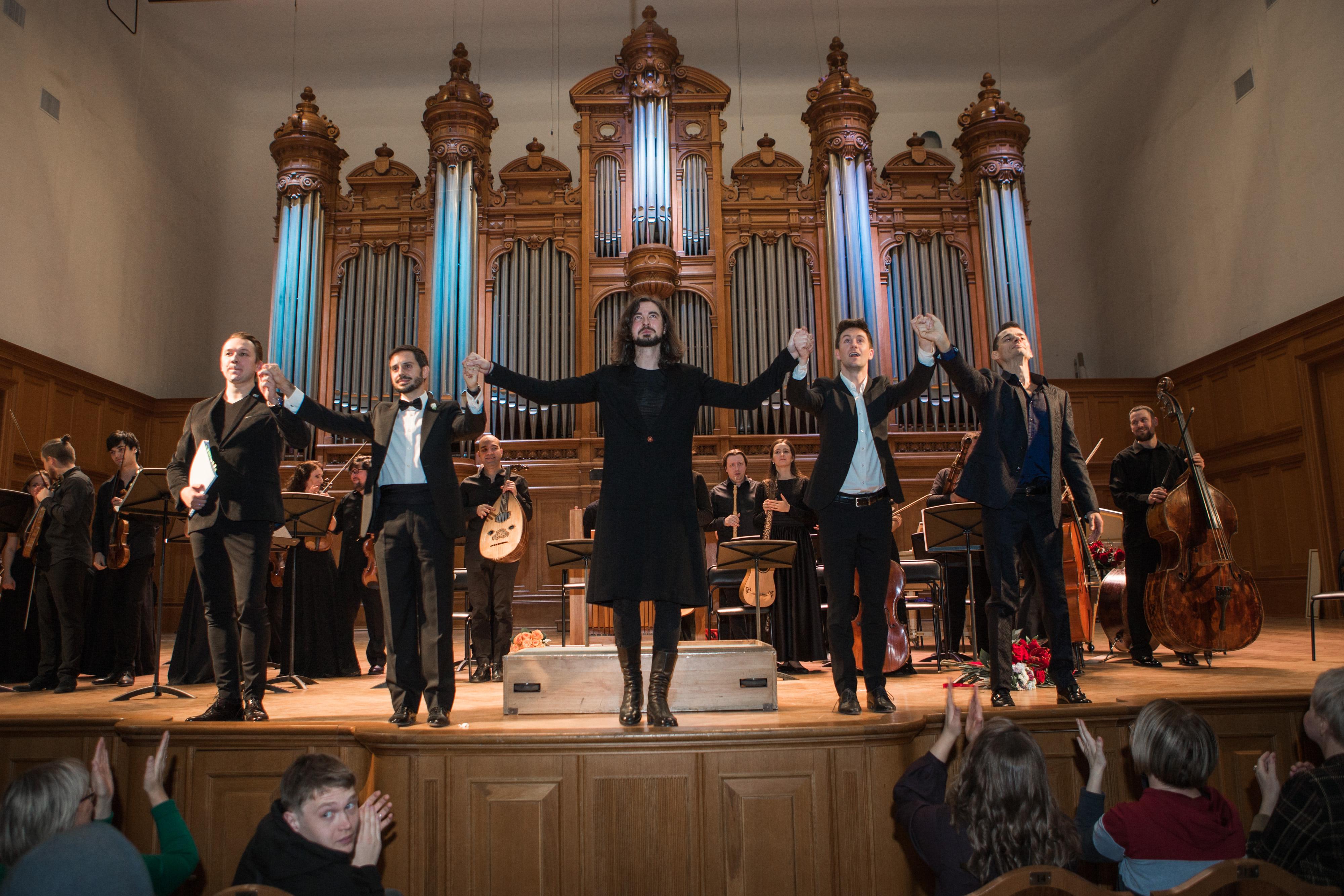 25 ноября прозвучала концертная версия постановки «Триумф Времени и Бесчувствия» в Большом зале Московской консерватории.